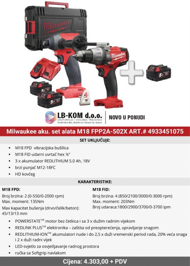 Milwaukee M18 FPP2A-502X