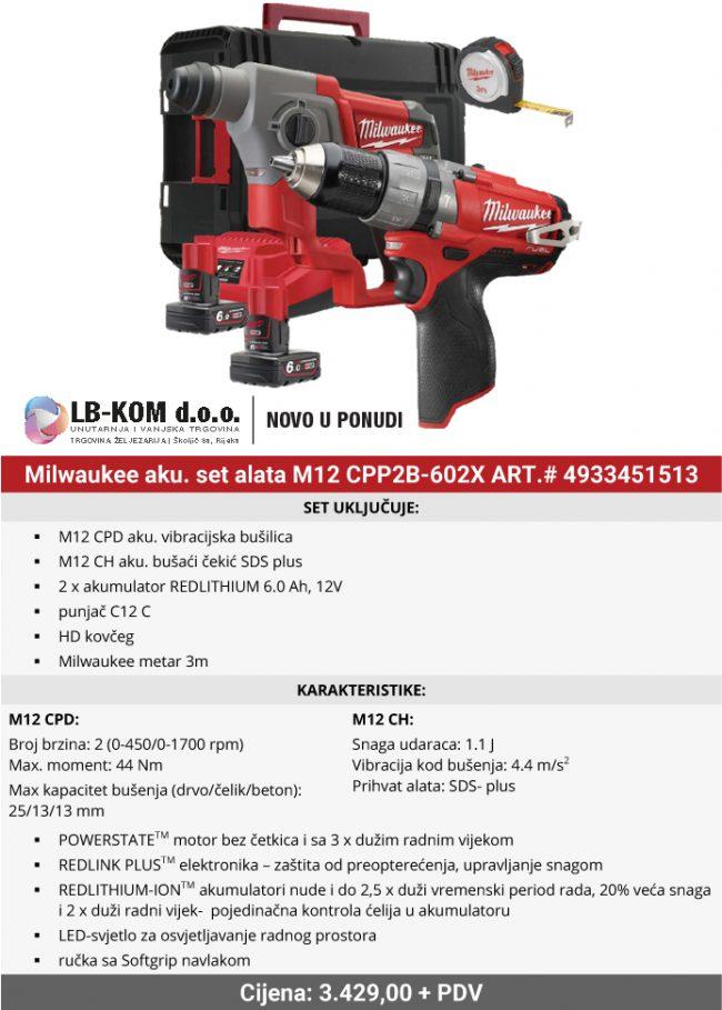 Milwaukee M12 CPP2B-602X
